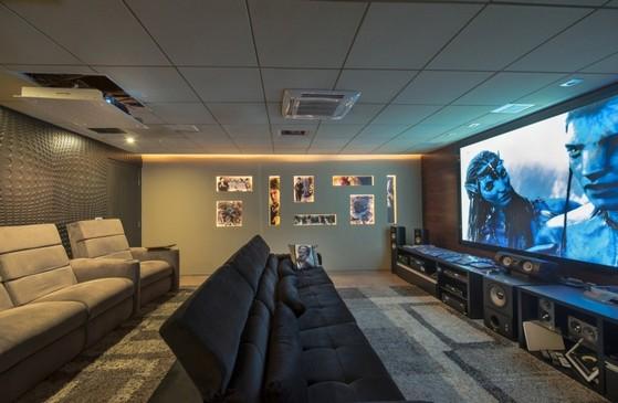 Sala De Tv Moderna Y Sofisticada.Sala De Tv Planejada Moderna E Sofisticada Orcar Jaguariuna
