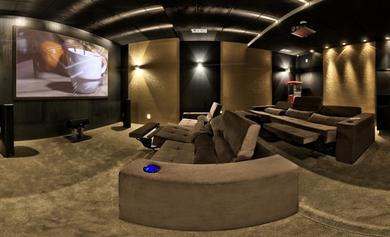 Sala Planejada Moderna Orçamento Holambra - Sala Planejada com Home Theater