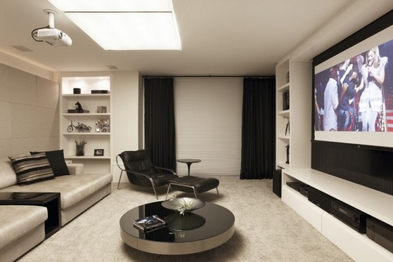 Sala De Tv Moderna Y Sofisticada.Salas De Tv Planejadas Moderna Paulinia Sala De Tv