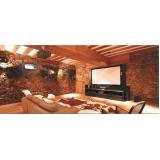 automação residencial som e imagem para sala planejada preço Pedreira