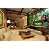 automação residencial som e imagem para sala planejada Holambra