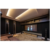 home theater de sala de cinema luxuosa valor Morungaba