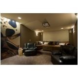 home theater planejado moderno para casa preço Americana