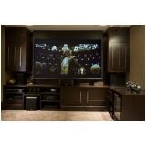 home theater planejado moderno para casa valor Monte Mor