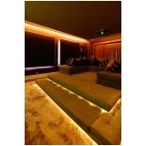 home theater planejado para residência preço Holambra