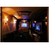 home theater planejado para sala valor Americana