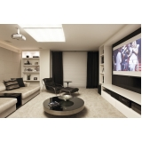 home theater sala de cinema residencial valor Indaiatuba