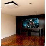 iluminação em sala de tv planejada valor Pedreira
