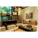 orçamento para automação residencial som e imagem para sala planejada Morungaba