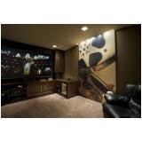 projeto de sala de cinema em apartamento Vinhedo