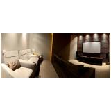 projeto de sala de cinema em residência de luxo Rio Claro