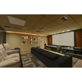 projeto de sala de cinema residencial com projetor Paulínia
