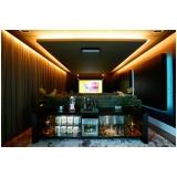sala de cinema em residência de alto padrão preço Mogi Guaçú