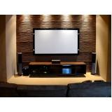 sala de cinema em residência de luxo preço Pedreira
