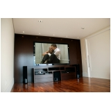 sala de cinema residencial de luxo preço Morungaba