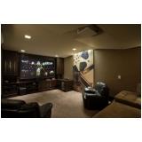 sala de tv painel planejado Poços de Caldas