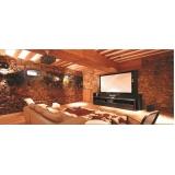 salas de cinema residencial luxuosa Monte Mor