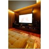 home theater sala de cinema planejada valor Monte Mor