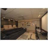 sala de tv planejada grande orçar Monte Mor