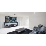 sala planejada para residência Artur Nogueira
